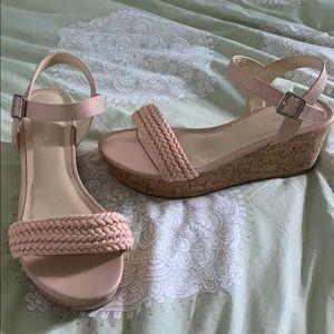 Brand New Nautica platform sandals blush